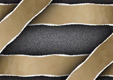 Vaqueros negros con las rayas poligonales rasgadas Fotografía de archivo