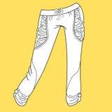 Vaqueros, pantalones, pantalones Forme la ilustración Fotografía de archivo libre de regalías