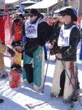 Vaqueros que se preparan para el 40.o vaquero anual Downhill Race fotos de archivo