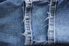 Vaqueros viejos gastados, dril de algodón, moda imagen de archivo