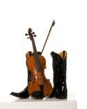 Vaqueros y su música country Fotografía de archivo libre de regalías