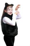 Vaquinha. Menina em um traje do gato Imagens de Stock