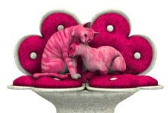 Vaquinhas do amor - inclui o trajeto de grampeamento Fotografia de Stock