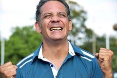 Varón adulto colombiano envejecido centro acertado Imagen de archivo libre de regalías