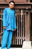 Varón asiático del Malay en traje tradicional Imágenes de archivo libres de regalías