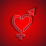 Varón de papel y concepto femenino del sex symbol Fotos de archivo