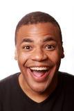 Varón feliz joven del afroamericano Foto de archivo libre de regalías
