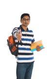 Varón indio de la universidad Foto de archivo libre de regalías