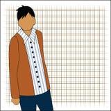Varón joven ilustración del vector