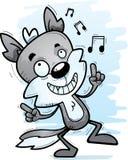 Varón Wolf Dancing de la historieta ilustración del vector