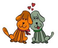 Varón y hembra en perros del amor Foto de archivo libre de regalías