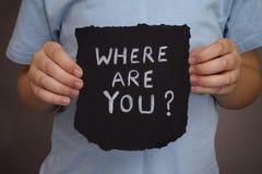Var är du? Royaltyfri Fotografi