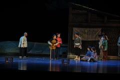 Var av nobelt tecken och höga prestige av den åldringJiangxi operan en besman Royaltyfri Bild
