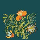 var båda fjärilen kan kombinationen innehåller horisontalriktningar för dekorativ blom- blomma, stylized som prydnadformer använd Royaltyfria Bilder