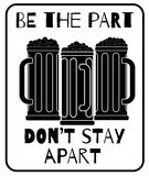 Var delen, bli inte ifrån varandra Arkivbild