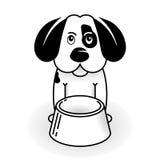 var den hungriga valpen för hunden till royaltyfri illustrationer