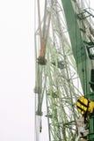 var den kranar anslutade laddade klara shipen för port till Royaltyfria Bilder
