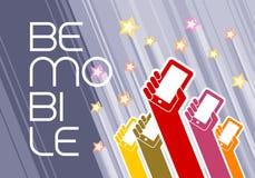Var den mobila designmallen Royaltyfri Fotografi