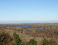 Var Donauen kysser himlen Royaltyfri Foto