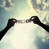 Var en vän Arkivbilder