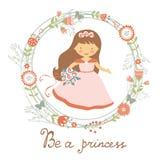Var ett gulligt kort för prinsessa Arkivfoton