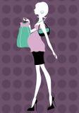 var fågelungemomen som shoppar till Royaltyfri Foto