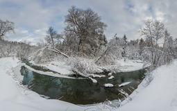 Var floden vänder Arkivfoto