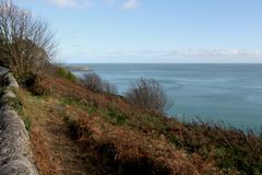 Var havet går in i himlen flod samuel för beckettbrodublin ireland liffey Royaltyfria Foton