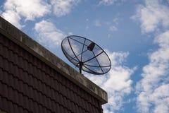 var installerade satelliten för hörndisk huset Fotografering för Bildbyråer