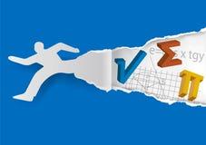 Var inte rädd av matematik, rivit sönder pappers- begrepp Arkivbild