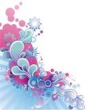 var kan corner olika blom- använda illustrationavsikter Arkivfoton