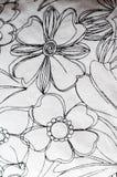 var kan olik blom- använd illustrationavsikttextur Arkivfoto