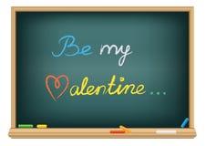 var krita som tecknar min valentin Arkivfoto