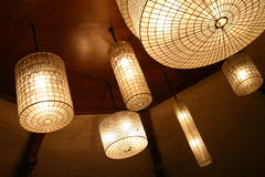 var låt lampor där Arkivbilder