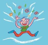 Var lycklig! Illustration Arkivfoto