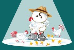 Var lycklig showtiderna för den fega lantgården stock illustrationer
