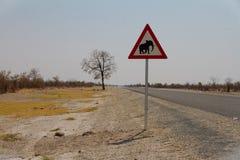 Var medveten av elefanter Royaltyfri Foto