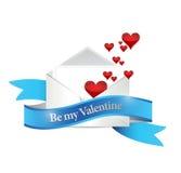 Var min design för valentinbokstavsillustrationen stock illustrationer