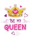 Var min drottning stock illustrationer