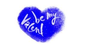 Var min Valentine Calligraphic Lettering i en djupfryst hjärta med Chromatangent arkivfilmer