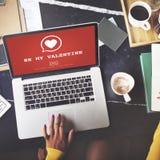 Var mitt Valentine Romance Heart Love Passion begrepp Royaltyfri Bild