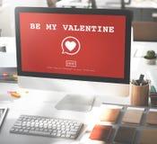 Var mitt Valentine Romance Heart Love Passion begrepp Arkivbilder