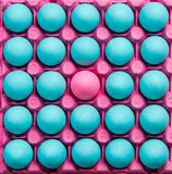 Var olik idérik visuell konst, pastellfärgade ägg Royaltyfri Bild