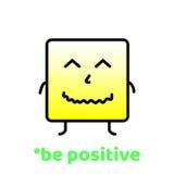 Var positiv Glöm inte att le Positiv motivationvektordesign Arkivbild