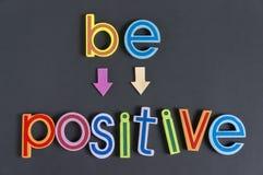 Var positiv, gör inte negativt Royaltyfria Foton