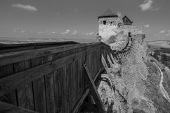 Vara Astle Boldogko in Ungarn auf einer hohen Klippe mit einer sehr alten Geschichte Lizenzfreie Stockfotos