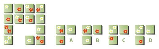 Vara besvärad pussel med blommor stock illustrationer