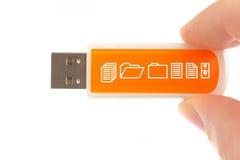 Vara da memória de computador do USB Fotos de Stock