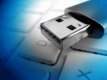Vara da memória do USB Foto de Stock Royalty Free