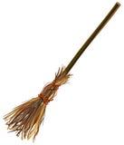 Vara da vassoura de bruxas Vassoura velha Objeto do acessório de Dia das Bruxas Fotografia de Stock Royalty Free
